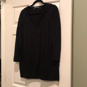 Tops - Black Tee Weight Kangaroo Hoodie Sz 1x